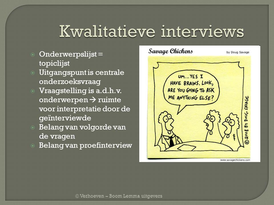 Kwalitatieve interviews