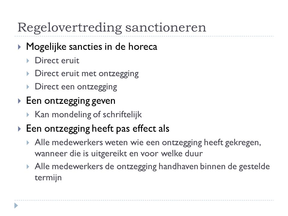 Regelovertreding sanctioneren