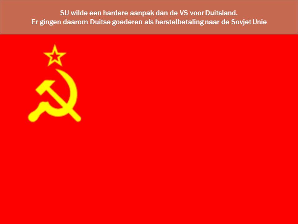SU wilde een hardere aanpak dan de VS voor Duitsland.