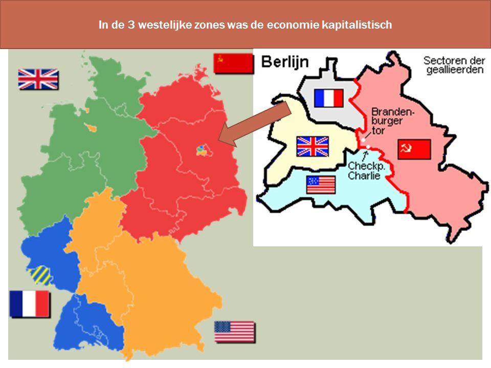 In de 3 westelijke zones was de economie kapitalistisch