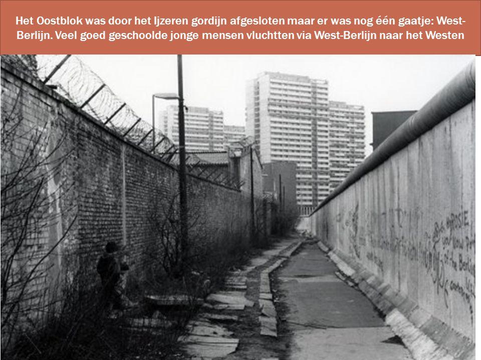 Het Oostblok was door het Ijzeren gordijn afgesloten maar er was nog één gaatje: West-Berlijn.
