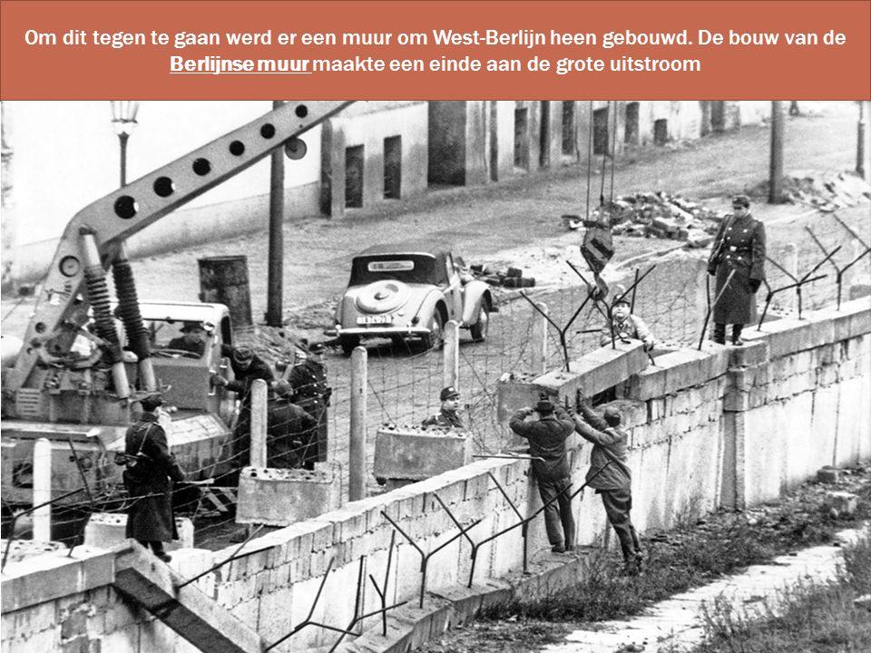 Om dit tegen te gaan werd er een muur om West-Berlijn heen gebouwd