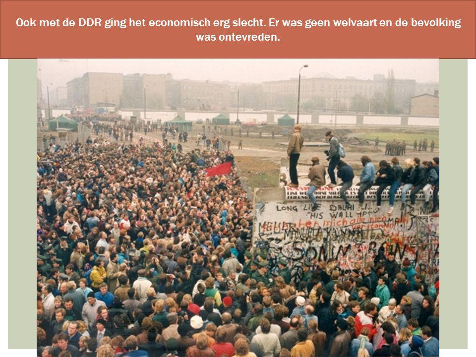 Ook met de DDR ging het economisch erg slecht