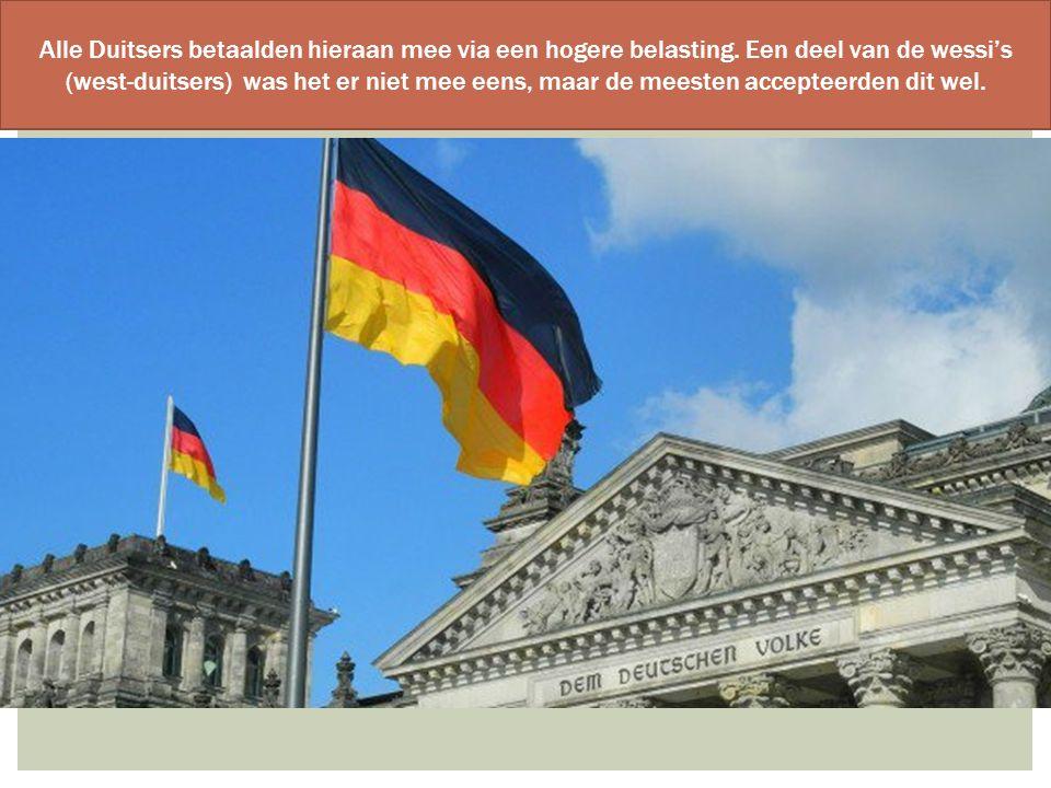 Alle Duitsers betaalden hieraan mee via een hogere belasting