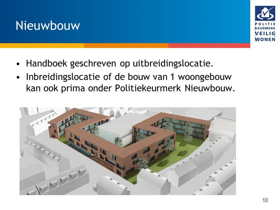 Nieuwbouw Handboek geschreven op uitbreidingslocatie.