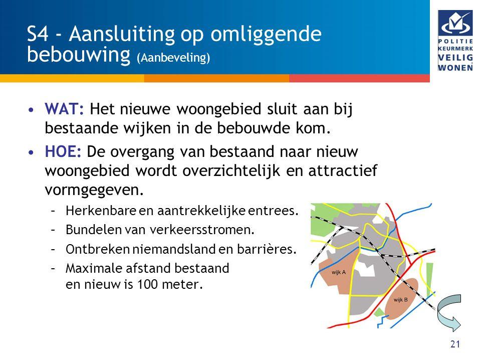 S4 - Aansluiting op omliggende bebouwing (Aanbeveling)