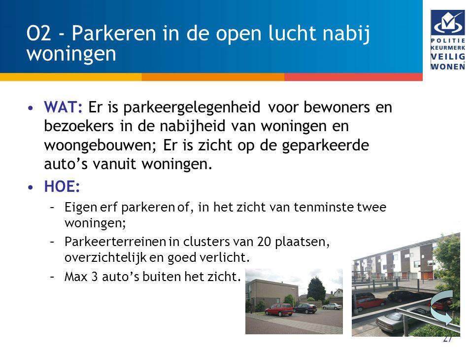O2 - Parkeren in de open lucht nabij woningen