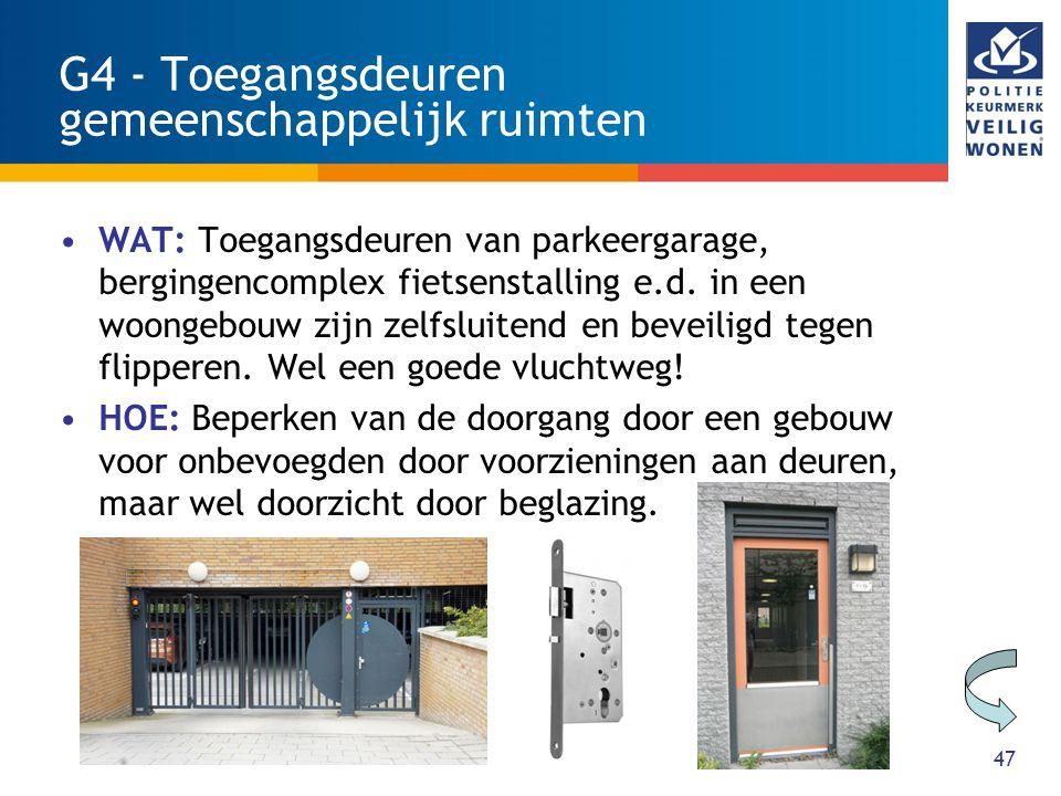 G4 - Toegangsdeuren gemeenschappelijk ruimten