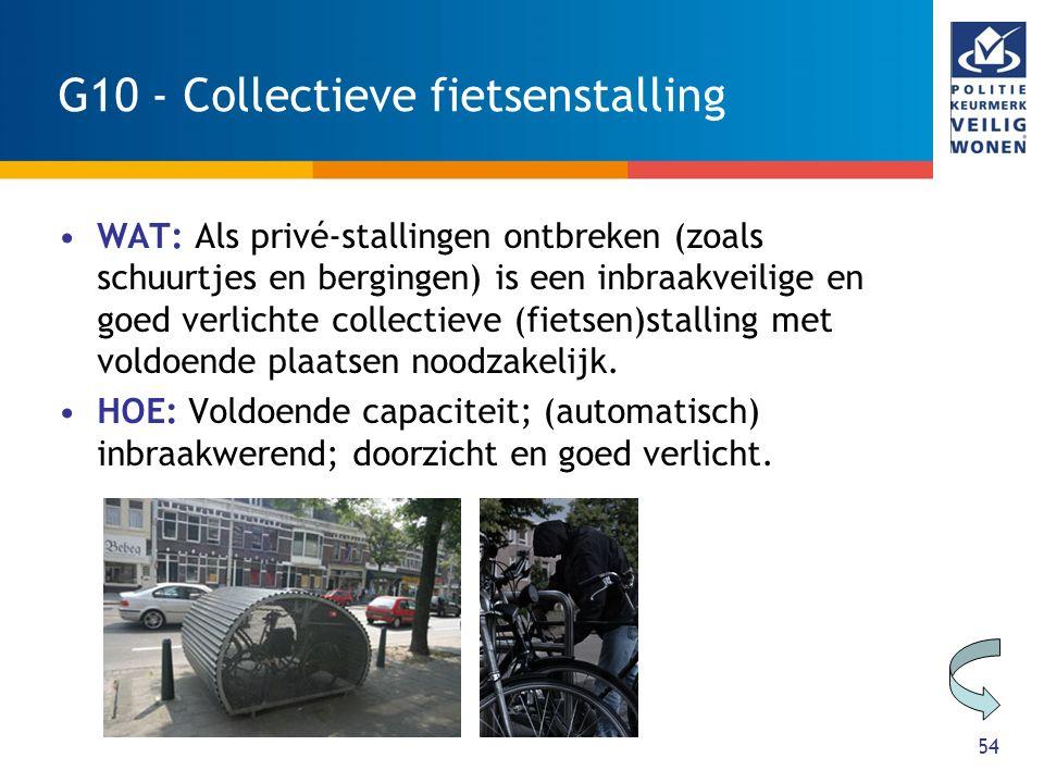 G10 - Collectieve fietsenstalling