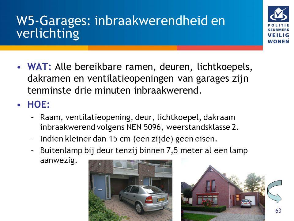 W5-Garages: inbraakwerendheid en verlichting