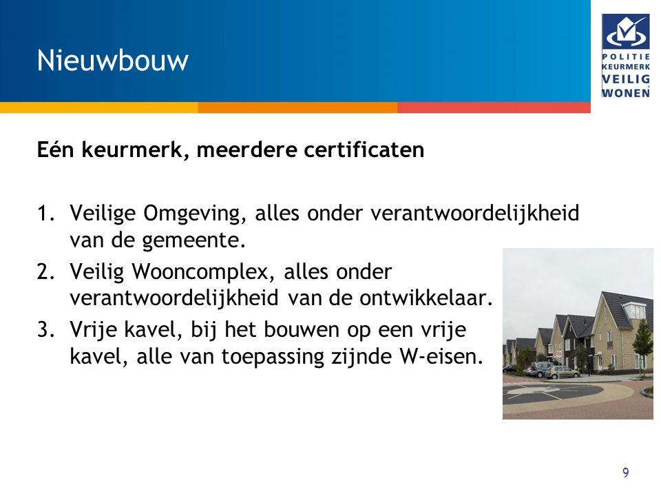 Nieuwbouw Eén keurmerk, meerdere certificaten