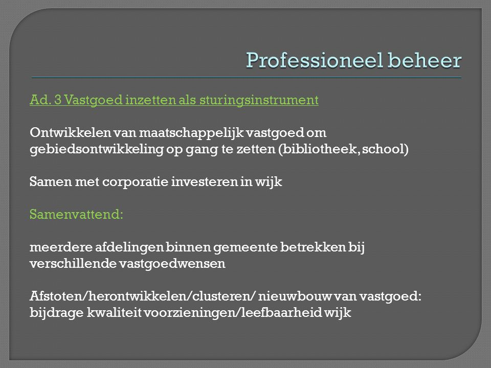 Professioneel beheer