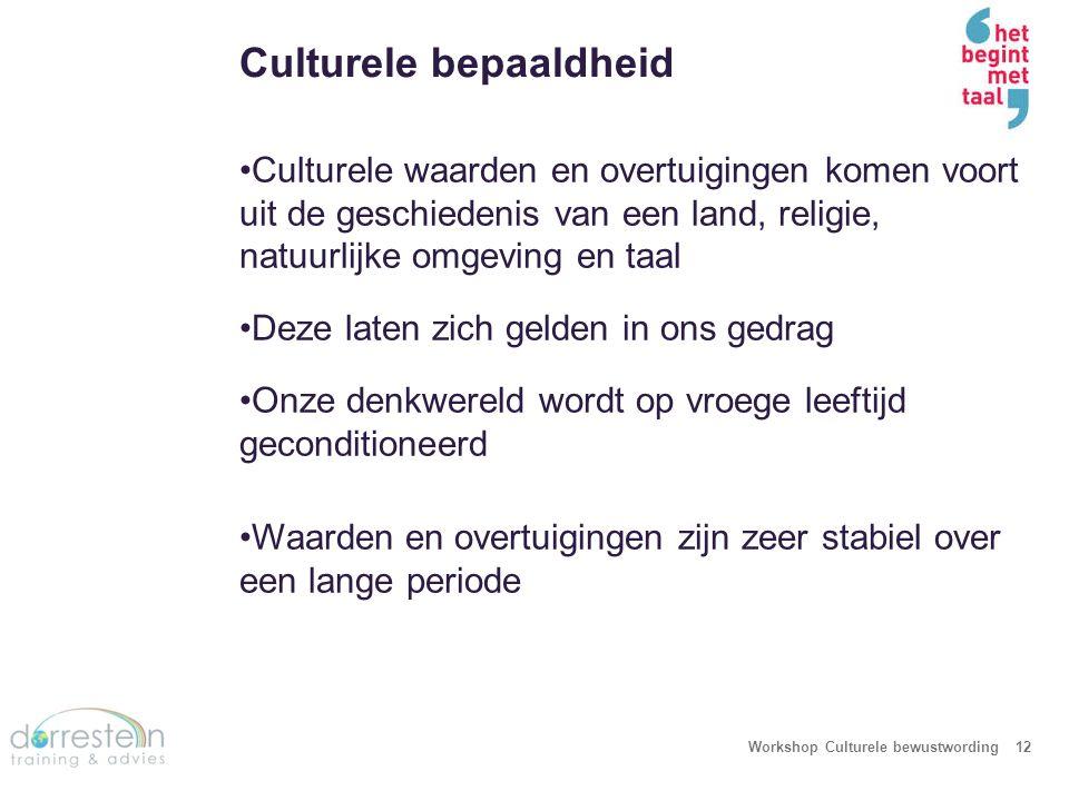 Workshop Culturele bewustwording