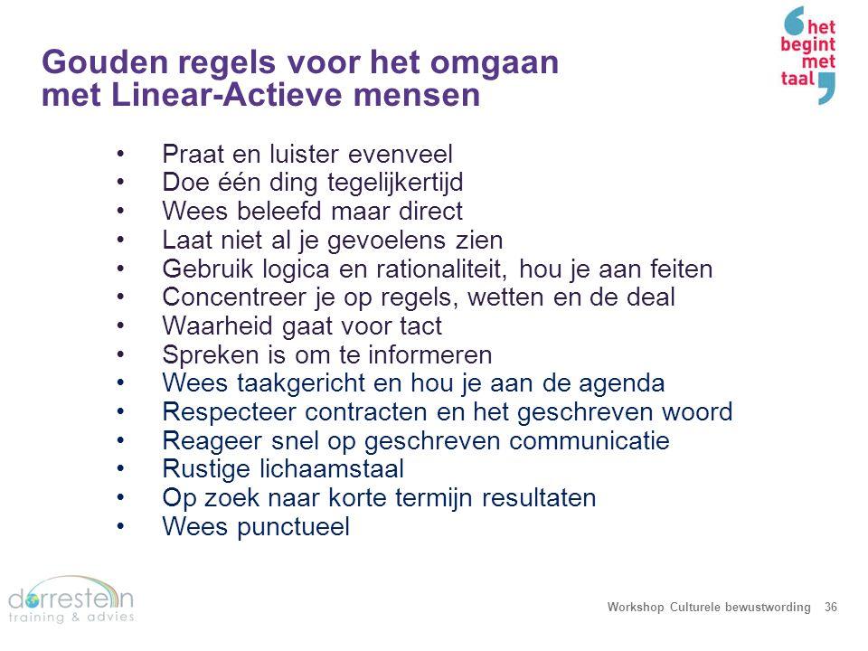 Gouden regels voor het omgaan met Multi-Active mensen