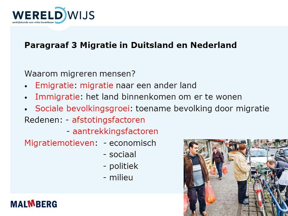 Paragraaf 3 Migratie in Duitsland en Nederland