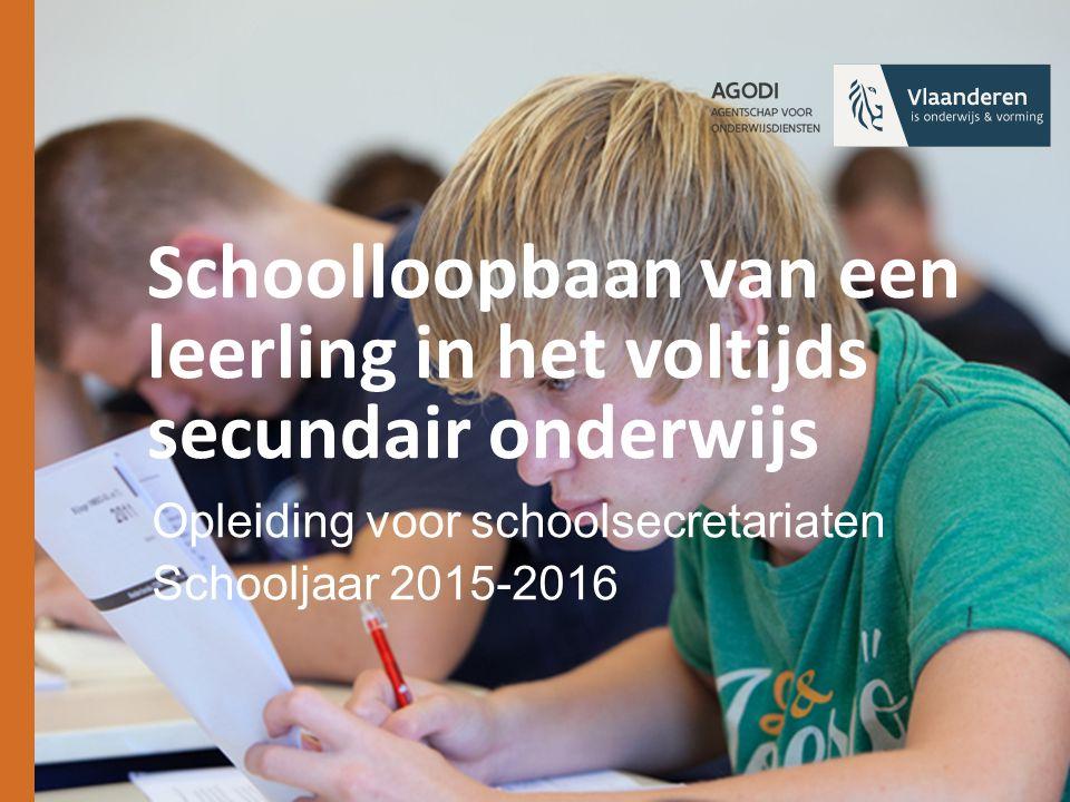 Schoolloopbaan van een leerling in het voltijds secundair onderwijs