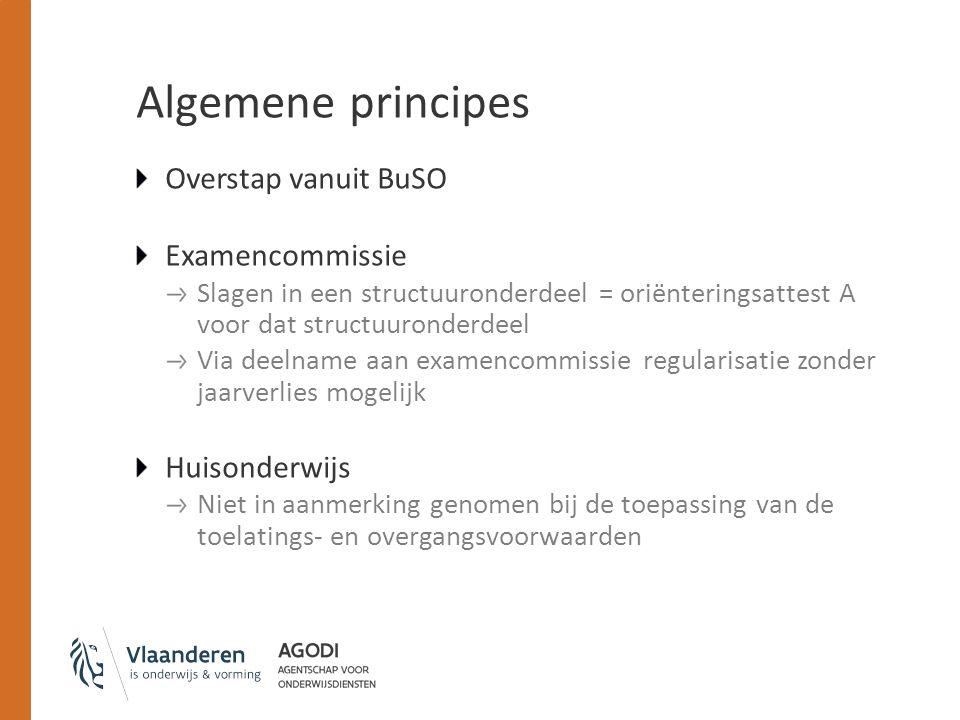 Algemene principes Overstap vanuit BuSO Examencommissie Huisonderwijs