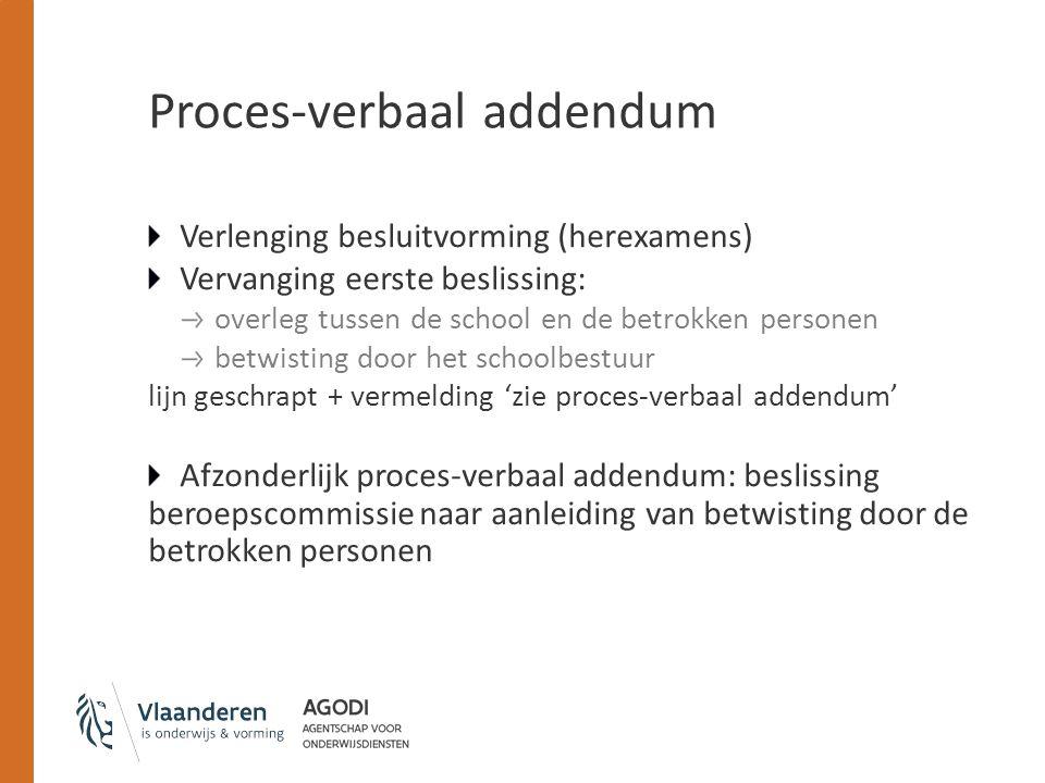 Proces-verbaal addendum
