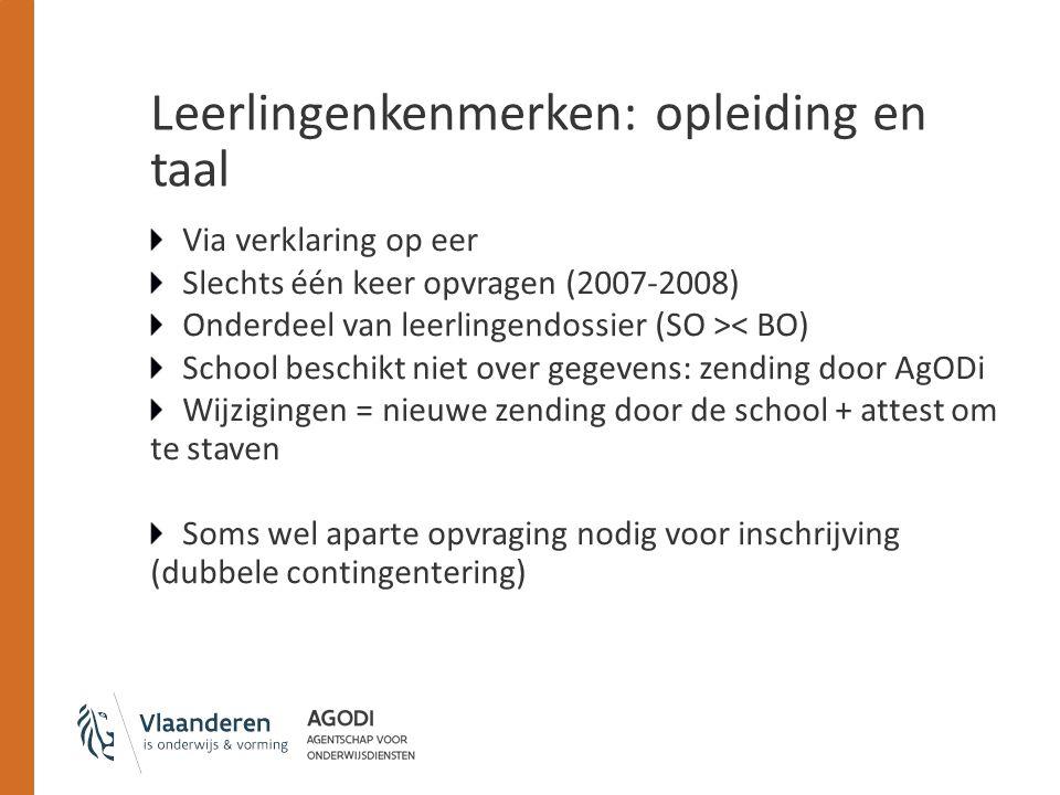 Leerlingenkenmerken: opleiding en taal