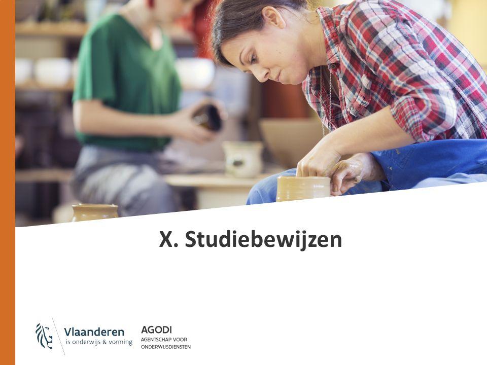 X. Studiebewijzen