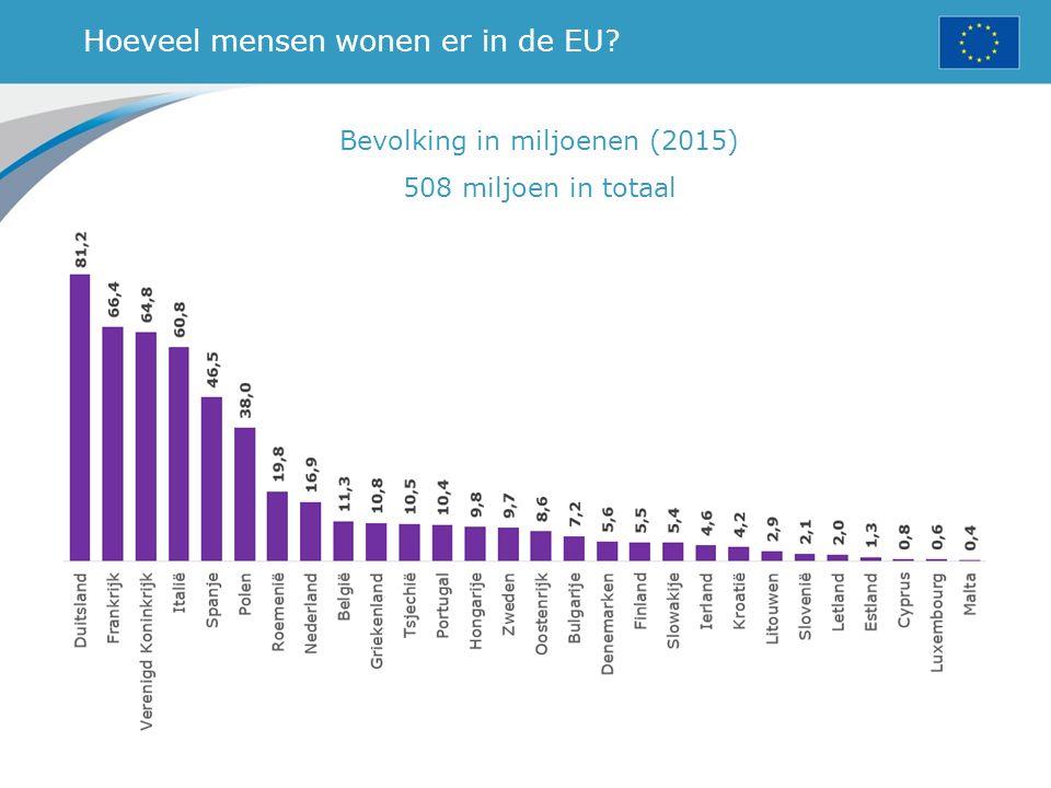 Hoeveel mensen wonen er in de EU