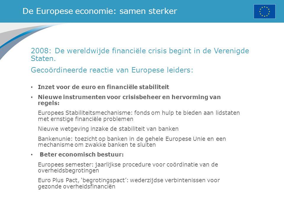 De Europese economie: samen sterker