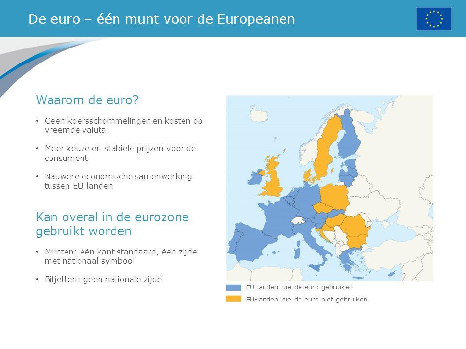 De euro – één munt voor de Europeanen