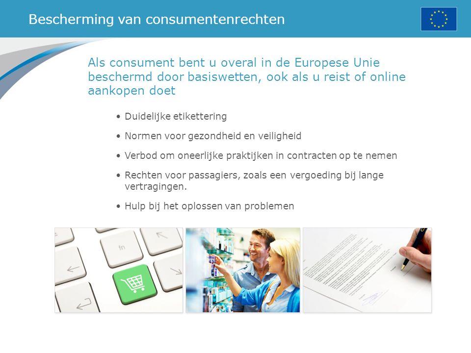 Bescherming van consumentenrechten