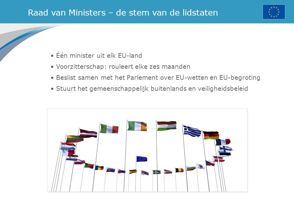 Raad van Ministers – de stem van de lidstaten