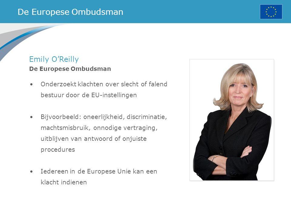 De Europese Ombudsman Emily O'Reilly
