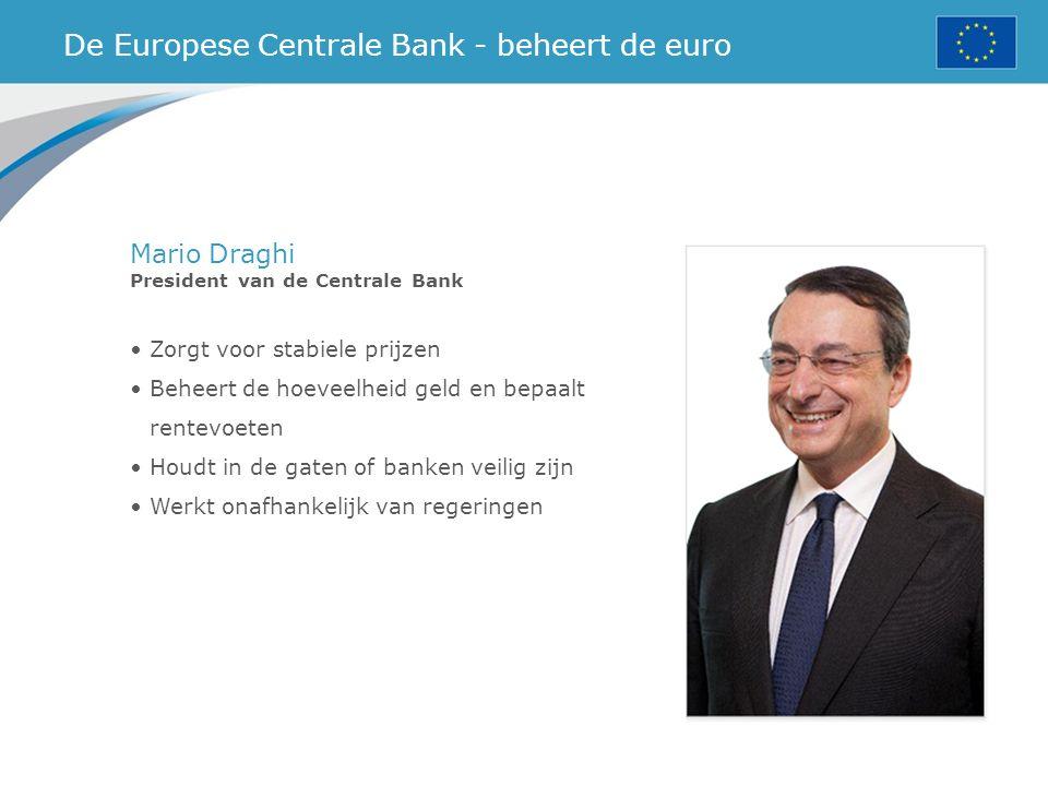 De Europese Centrale Bank - beheert de euro