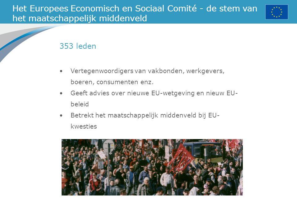 Het Europees Economisch en Sociaal Comité - de stem van het maatschappelijk middenveld