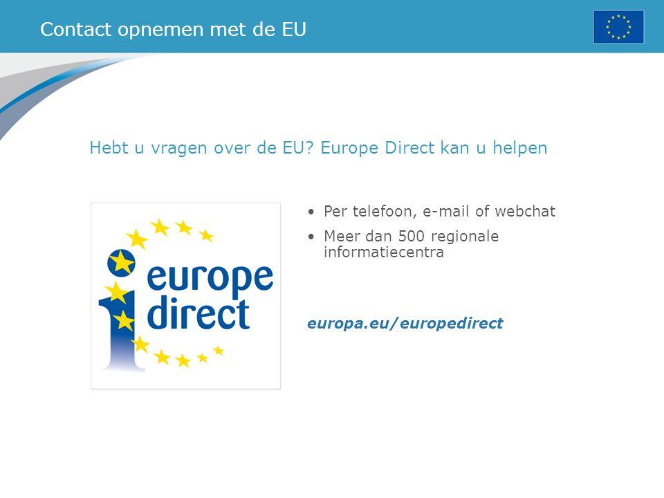 Contact opnemen met de EU
