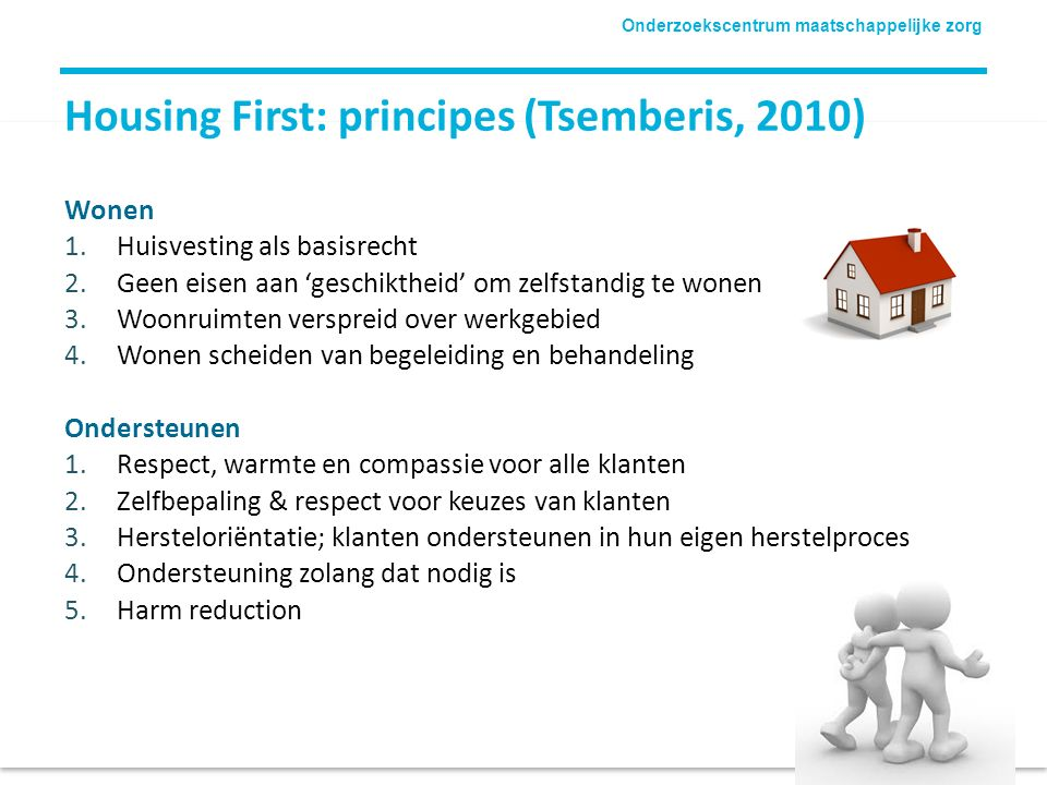 Housing First: principes (Tsemberis, 2010)