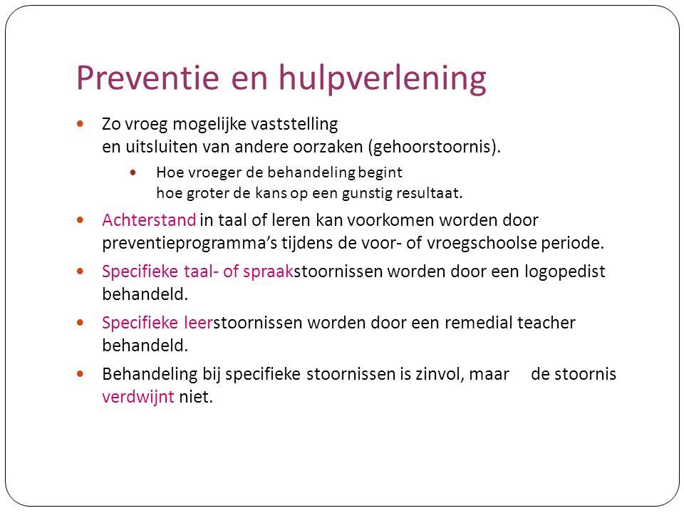 Preventie en hulpverlening