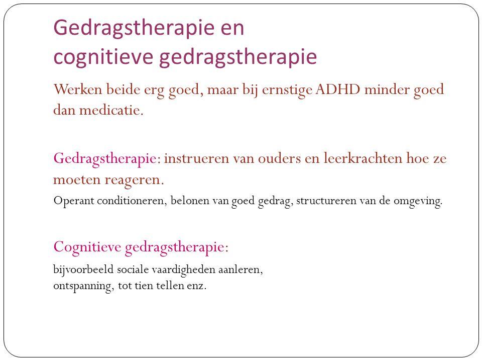 Gedragstherapie en cognitieve gedragstherapie