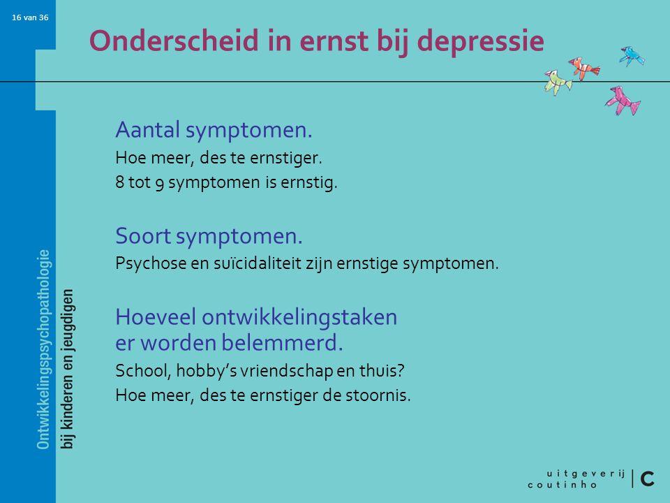 Onderscheid in ernst bij depressie