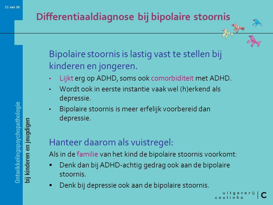Differentiaaldiagnose bij bipolaire stoornis