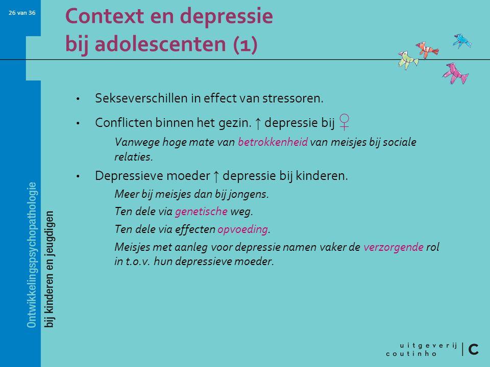 Context en depressie bij adolescenten (1)