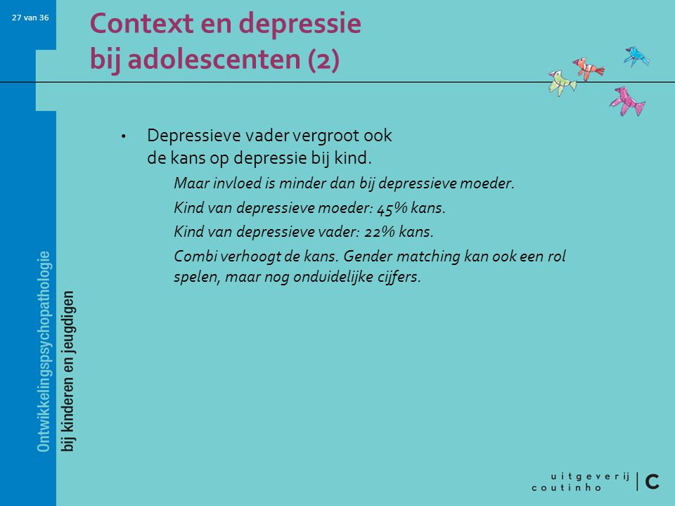 Context en depressie bij adolescenten (2)