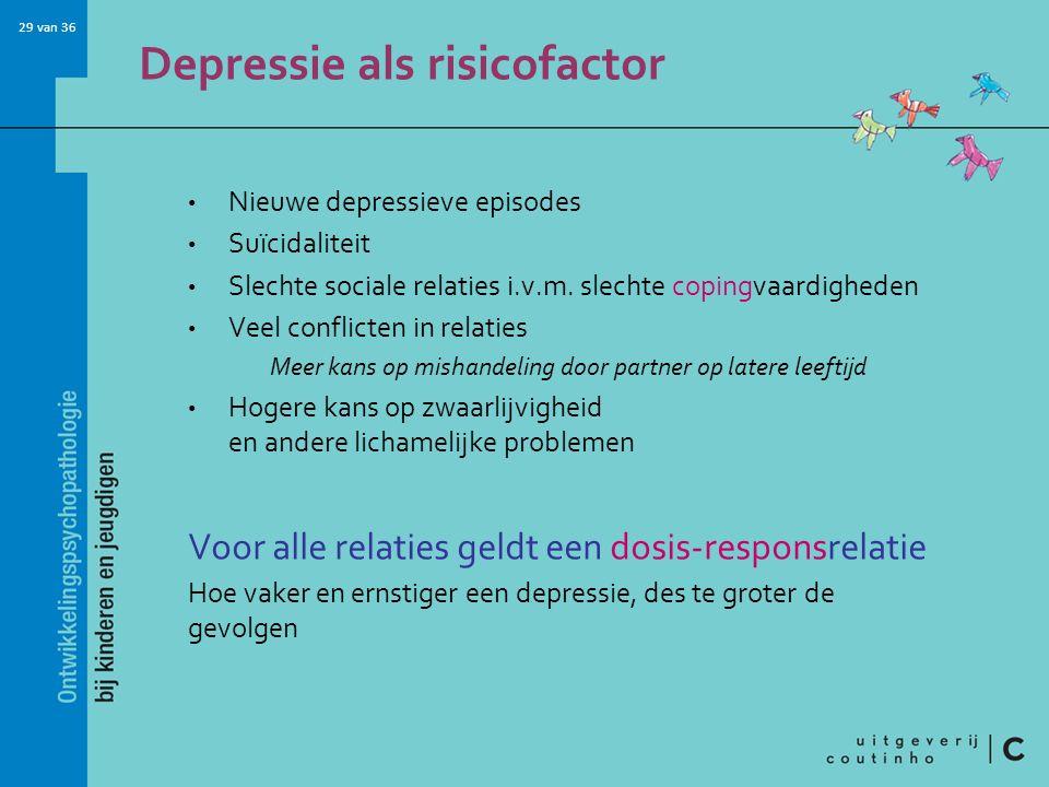 Depressie als risicofactor