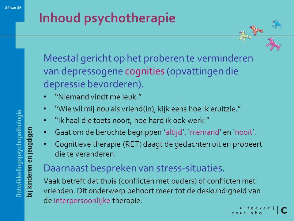 Inhoud psychotherapie