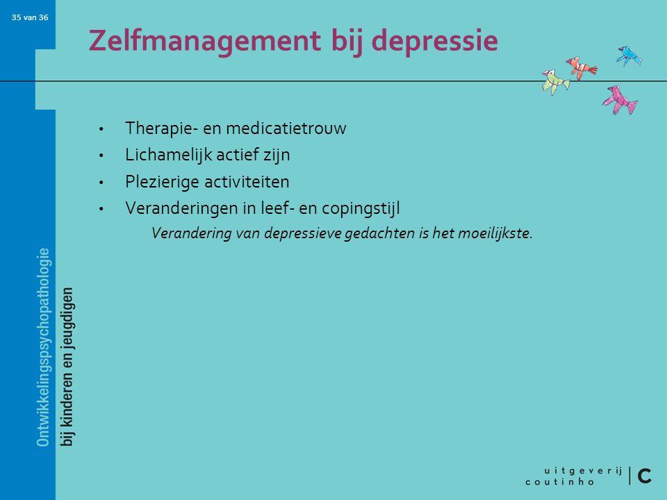 Zelfmanagement bij depressie