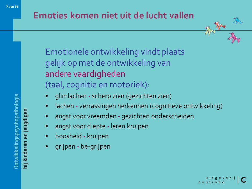 Emoties komen niet uit de lucht vallen
