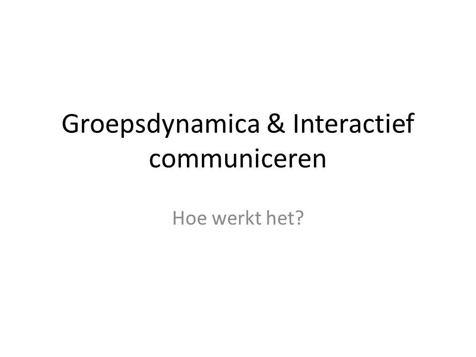 Groepsdynamica & Interactief communiceren