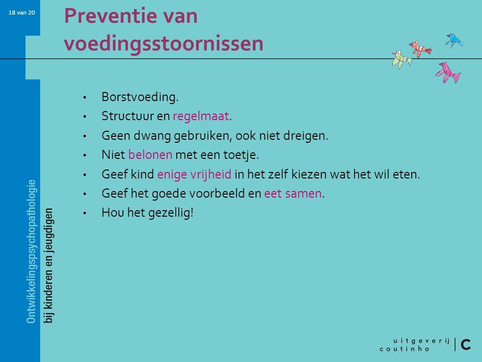 Preventie van voedingsstoornissen