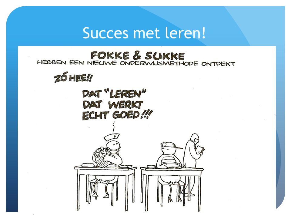 Succes met leren!