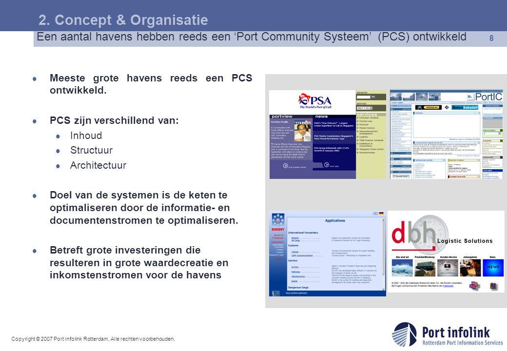 2. Concept & Organisatie Een aantal havens hebben reeds een 'Port Community Systeem' (PCS) ontwikkeld.
