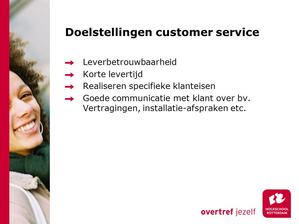Doelstellingen customer service