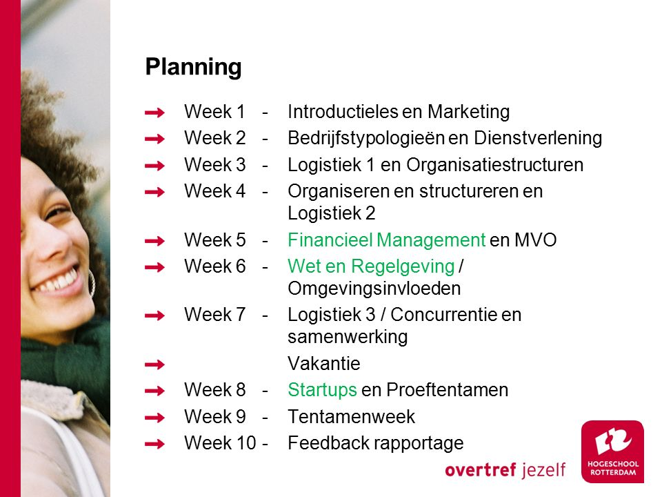 Planning Week 1 - Introductieles en Marketing